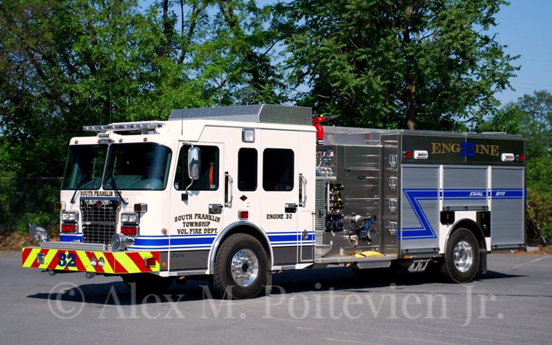South Franklin Township Vol. Fire Department<br /> Engine 32<br /> 2012 Spartan/Toyne 2000/1000/20F<br /> Photo by: Alex M. Poitevien Jr.