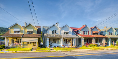 Matching houses in Lykens, Pennsylvania