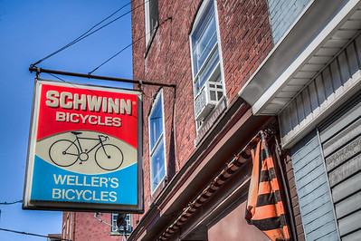Weller's Bicycles Schwinn Sign