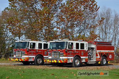 Carlisle (Union Fire Co.) Engines 1-41 & 2-41: Carlisle (Union Fire Co.) Engine 1-41: 2016 Pierce Enforcer 1500/750/30A
