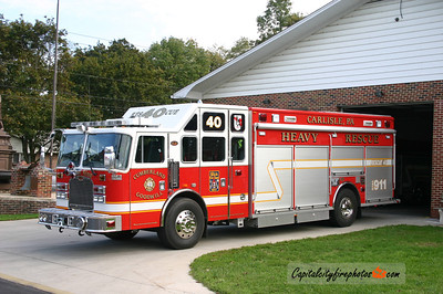 Carlisle X-Rescue 40: 2006 KME   (*** later became Rescue 45 when Cumberland-Goodwill merged with Empire H&L and Friendship to form Carlisle Fire Rescue. Sold to Savage, Howard Co., MD in in 2017 ***)