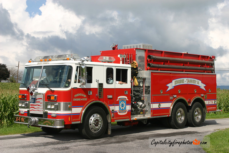 Chambersburg Engine Tanker 14: 1991 Pierce Lance 1750/2500 (X-Churchtown, PA) - No longer in service