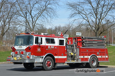 BJW Fire Co. (Clearfield Co.) Squad 16: 1990 Mack CF/Ranger 1500/? (X-North Middleton, Huntingdon, PA)