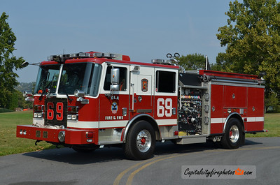 Defense Logistics Agency (New Cumberland) Engine 69: 2010 KME Severe Service 1500/750/50B
