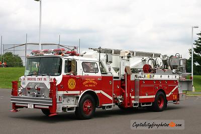 Bristol Township Truck 14: 1973 Mack CF/Baker/97 Swab 75' (X-Plumsteadville, PA)