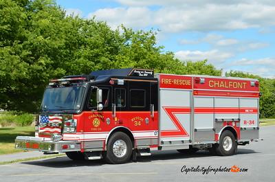 Chalfont Fire Co. Rescue 34: 2015 Rosenbauer Commander 1500/750/20A