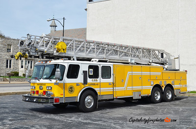 Coatesville Ladder 43: 1992 E-One Hurricane 110' (X-Fame Fire Co., West Chester, PA)