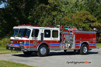 Collingdale X- Engine 42-1: 1987 Hahn 2000/750 ** replaced in 2011, donated to Broad Channel VFD, Queens, NY in 2012, returned to Collingdale and donated to Schuylkill Historical Fire Society in 2016 **