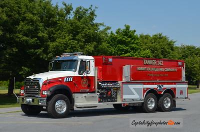 Hobbie (Hollenback Township) Tanker 142: 2006 Mack Granite/KME 750/3000