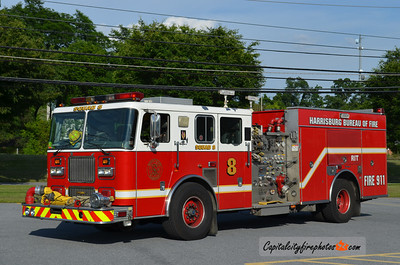 Harrisburg X-Squad 8: 1999 Seagrave 1500/500/50 (Currently running as a Reserve piece)