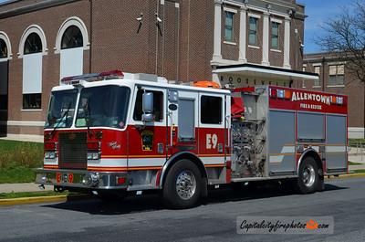 Allentown City (Lehigh Co.) Engine 9: 2009 KME Predator 1500/750