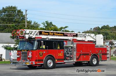 Blaine Hill Fire Co., Elizabeth Township Truck 142: 1995 Pierce 1500/300 75' (X-White Oak, PA)