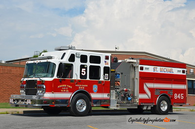 Adams Township Fire Co #2 (St. Michael) Rescue Engine 84-5: 2005 Spartan/4 Guys 2000/500