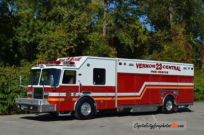 Vernon Central Hose Co. (Vernon Township) Rescue 23-18: 2007 KME Predator