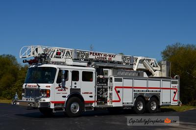 Perry Hi Way Fire Co. (Summit Township) Ladder 429: 2005 American LaFrance Eagle/LTI 1500/500 110' (X-Durango, CO)
