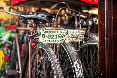 Local bikes in Antigua.