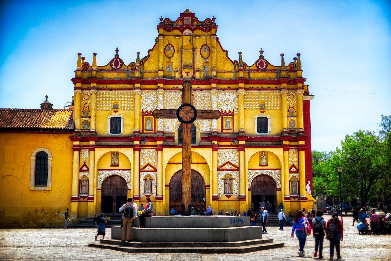 Town square, San Cristobal, Mexico.