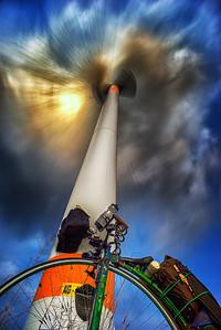 I always find wind turbines impressive.