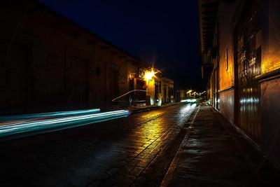 Lights at night.