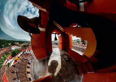 A Quasimodo eyed view from inside the bell tower.