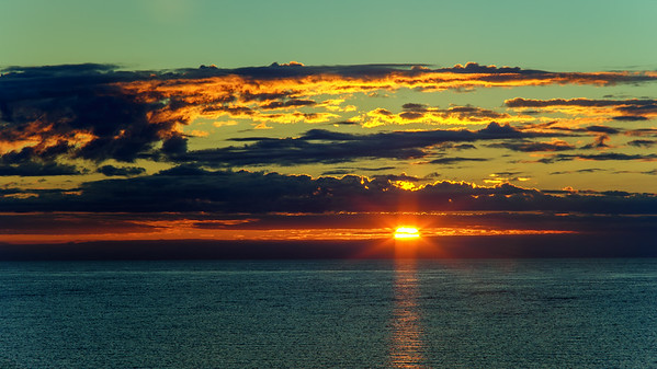 Sunrise over Lake Huron.