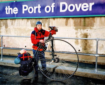 I'm just about to get on the ferry and head to Paris on my first Penny farthing tour.