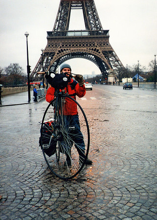 Time to head home after my first Penny farthing tour.