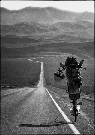 The road through Death Valley.
