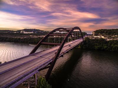 Pink Sky 360 Bridge