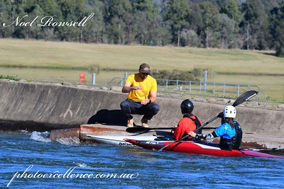 National Canoe Slalom Coach Robbie Jeffery and Penrith Valley Canoeing junior training squad NR5_9732