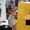 A member of the Al Kaly Shriners in Saturday's 80th annual Apple Day Parade in Penrose. Lisa Rix/Daily Record