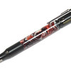 30 Caliber Bolt Action Black Enamel and Gunmetal ballpoint shown with Rusted Snow Lava Explosion acrylic