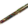 7mm Euro Gold ballpoint shown with Witches Brew Lava Explosion