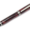 Baron Satin Nickel Fountain Pen shown with Watermelon Lava