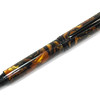 Baron Black Chrome Fountain Pen shown with Golden Smoke Lava