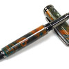 Baron Gunmetal Rollerball Pen shown with Mineral Sea Lava Explosion