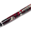 Baron Silver Fountain Pen shown with Snowy Christmas Lava Explosion