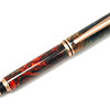 Baron Satin Copper Rollerball Pen shown with Melon Lava