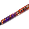 Baron Bright Copper Rollerball shown with Purple Sunset Lava