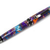Cigar Black Titanium ballpoint shown with Clown Car lava explosion