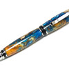 Cigar Platinum ballpoint shown with Burl Cap with Blue and Gold resin