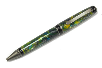 Cigar Satin Black ballpoint shown with Sunflower Sky Lava Explosion
