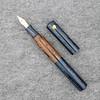 Custom Double Ended Pen in Denim and Chestnut Ebonite