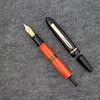 Menlo Draw Filler in Mandarin Orange and Black Acrylic with Amber Ink Window