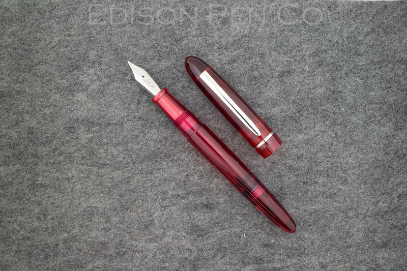 Menlo Draw Filler in Pearlized Wine with Translucent Red Ink View Barrel