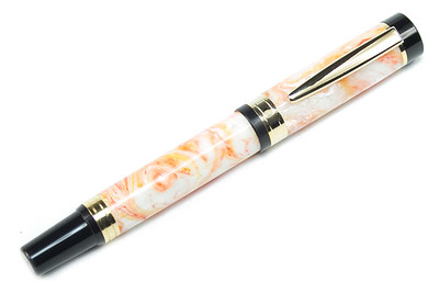 El Grande Gold Fountain Pen (Auburn Amber VS)