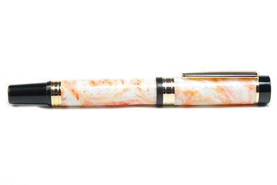 El Grande Gold Fountain Pen (Auburn Amber VS)