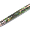 Himalayan Antique Copper ballpoint shown with Everglades Lava Explosion acrylic
