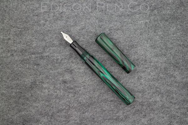 Mina in Mottle Green Ebonite