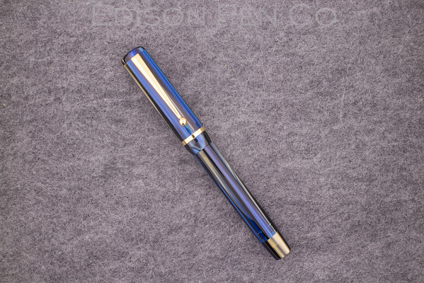 Beaumont Pneumatic in Blue-Gold Striated Acrylic